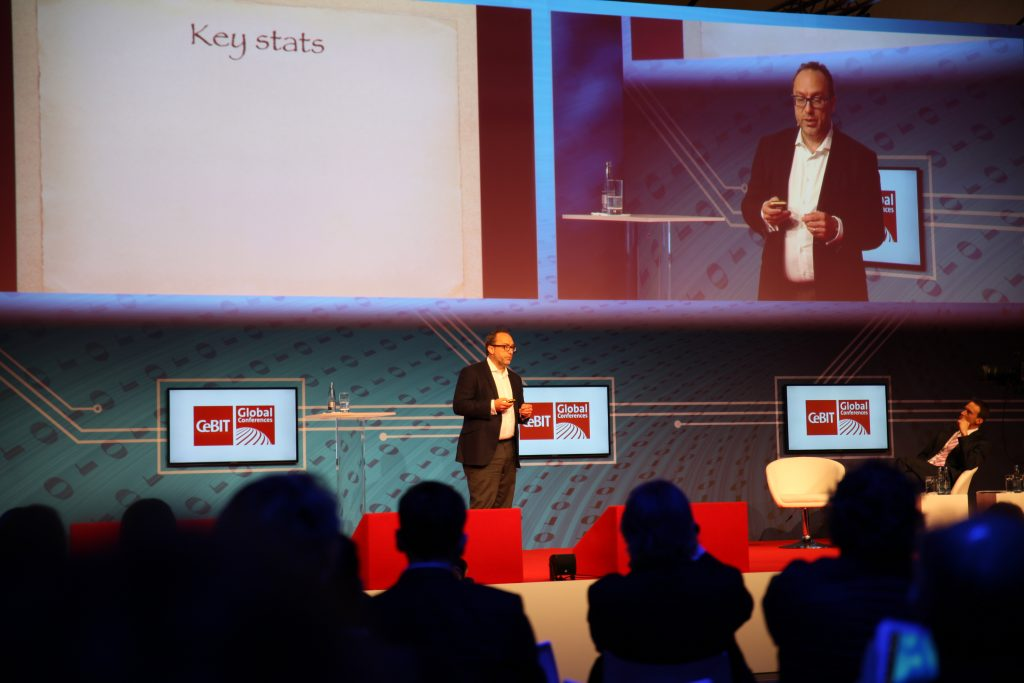jimmy wales at cebit, soliton solutions pr trade show marketing